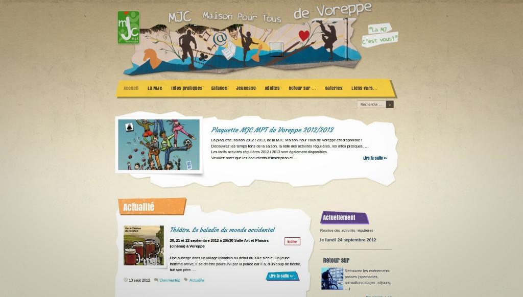 Bienvenue sur le nouveau site Internet de la MJC Maison Pour Tous de Voreppe !