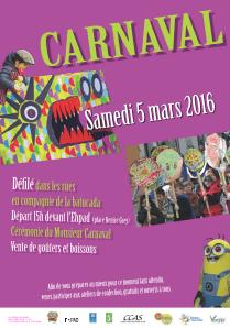 Attention : carnaval reporté au 12 mars