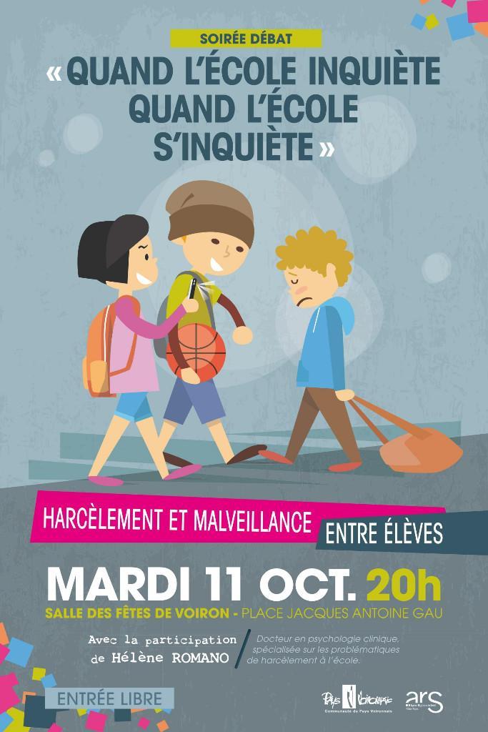 Soirée Débat : Harcèlement et malveillance entre élèves