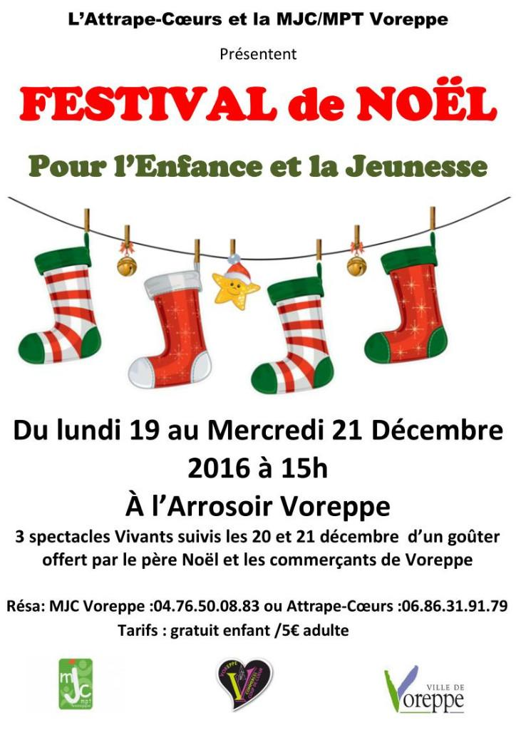 Festival de Noël : spectacles proposés par l'Attrape-coeurs