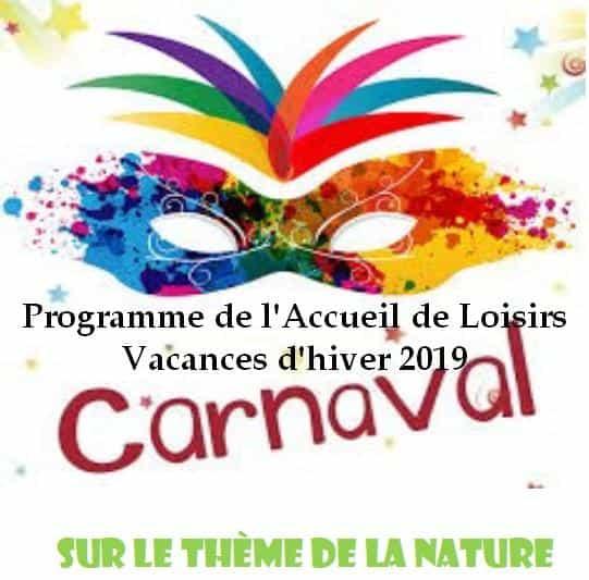 Programme des activités du Centre de loisirs durant les vacances d'Hiver