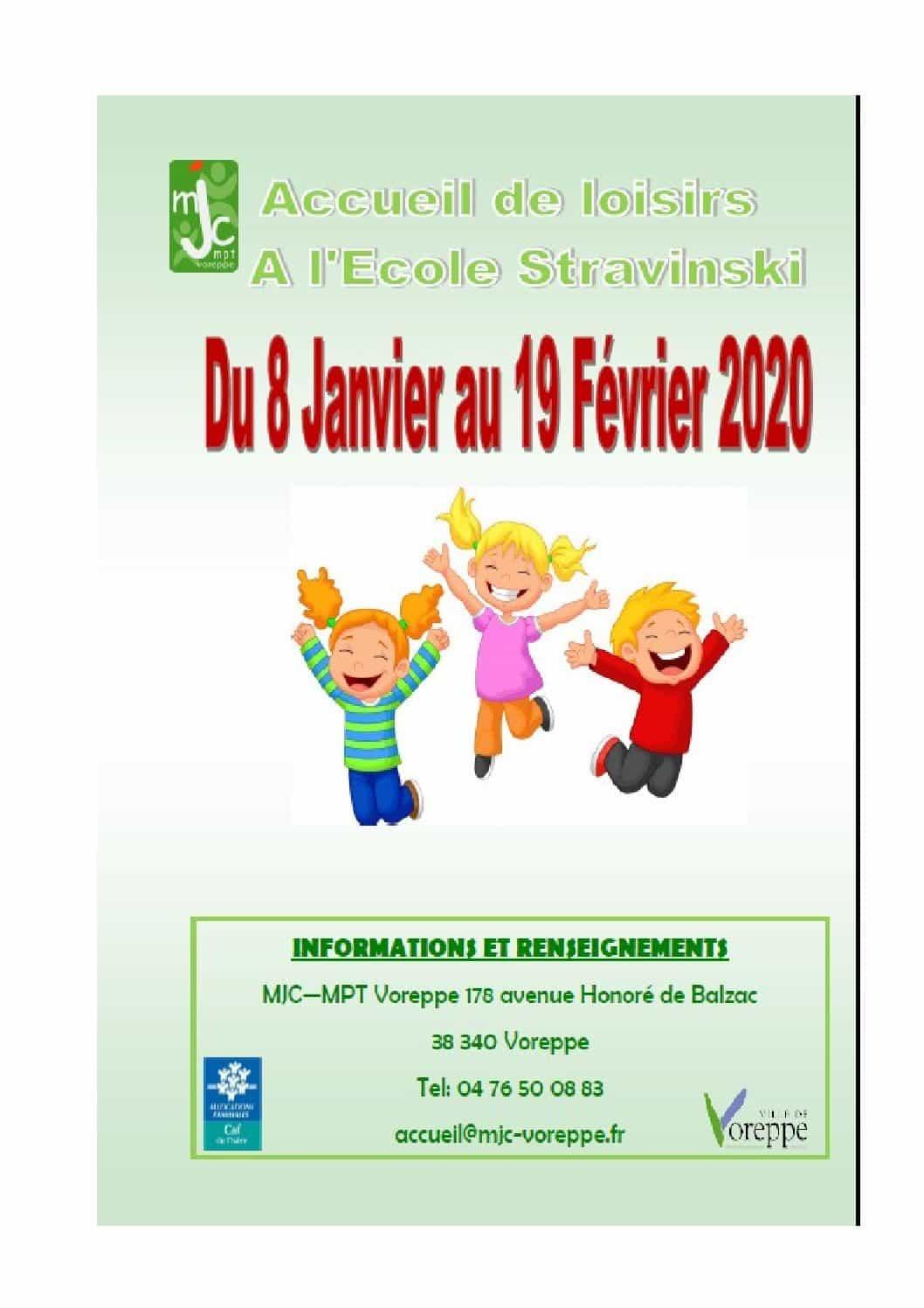 Accueil de Loisirs 3-12 ans mercredis après midi – Programme du 8 janvier au 19 février 2020
