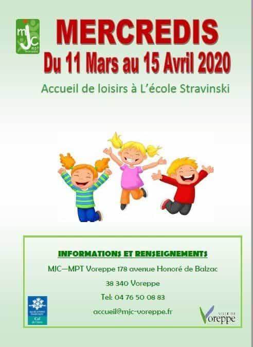 Accueil de Loisirs 3-12 ans mercredis après midi – Programme du 11 Mars au 15 Avril 2020