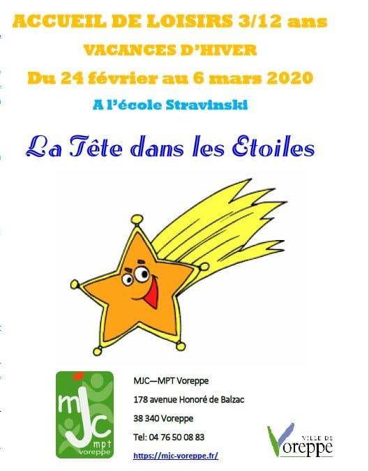 Accueil de loisirs 3/12 ans – Vacances d'hiver 2020