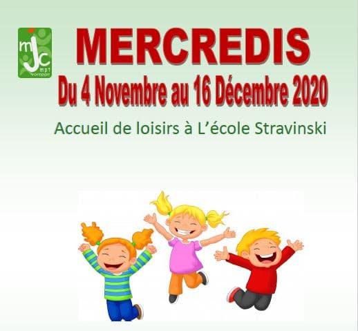 Accueil de Loisirs 3-12 ans mercredis après midi – Programme du 4 Novembre au 16 décembre 2020