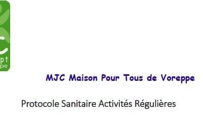 Protocole sanitaire activités régulières