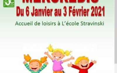 Accueil de Loisirs 3-12 ans mercredis après midi – Programme du 06 janvier au 03 Février 2021