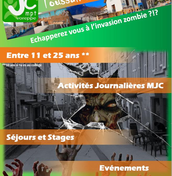 Programme secteur jeunes – Vacances de Toussaint